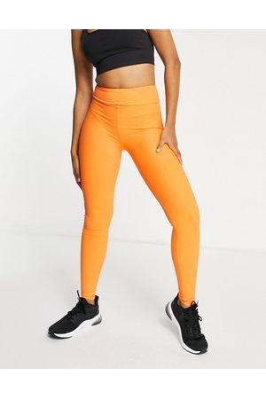 South Beach Fitness rib leggings in orange