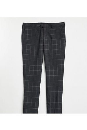 Gianni Feraud Plus slim fit windowpane check suit trousers-Green
