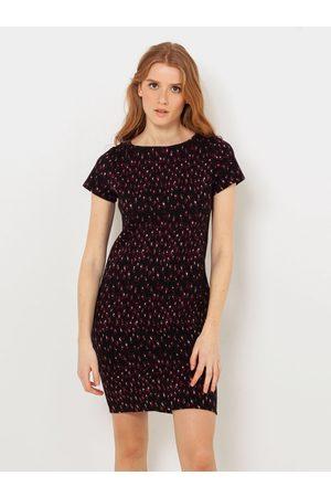 Camaïeu Černé vzorované pouzdrové šaty