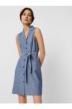 VERO MODA Modré košilové šaty Sandy