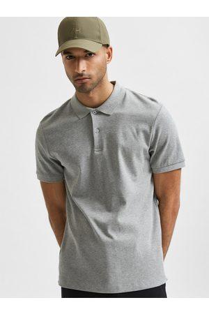 SELECTED Šedé polo tričko