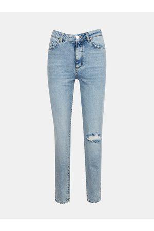 VERO MODA Ženy Rovné nohavice - Světle modré straight fit džíny Nadine