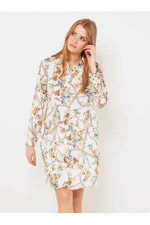 Camaïeu Bílé květované košilové šaty