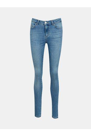 Pieces Světle modré skinny fit džíny Delly