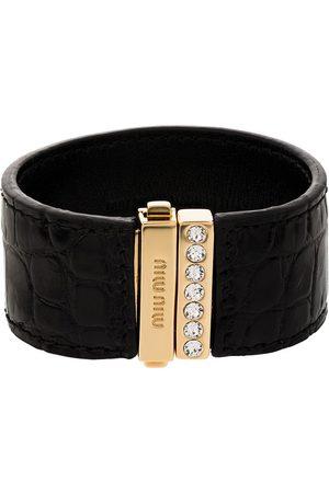 Miu Miu Ženy Náramky - Crocodile-effect crystal-embellished bracelet