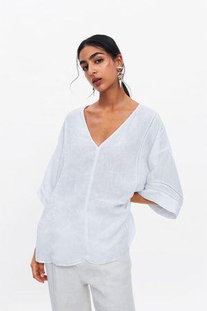 Zara Ženy Tuniky - Lněná tunika