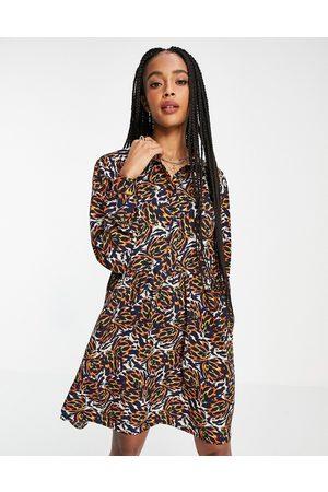 Object Ženy Volnočasové - Kat printed mini dress in multi