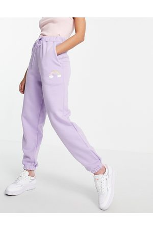 ASOS Co-ord oversize jogger with carebear graphic in lilac-Purple