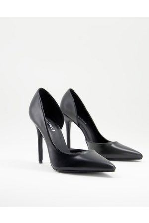 Glamorous D'orsay court shoes in black
