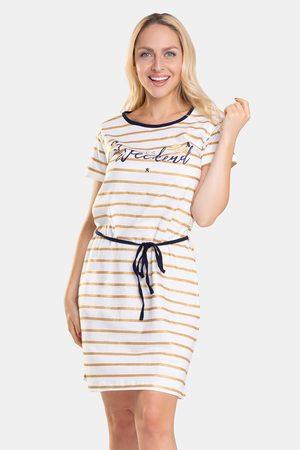 CTM Style Dámská noční košilka Spla ecru