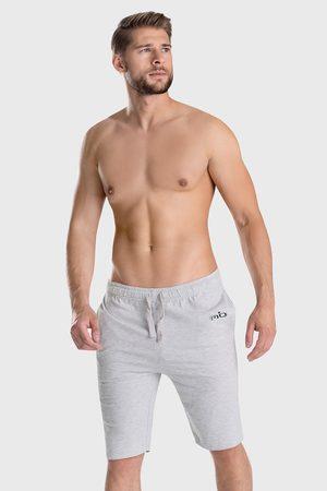 ALAN BROWN Muži Tepláky na spaní - Šedé pyžamové šortky Must Basic