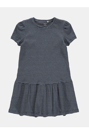 NAME IT Tmavě modré pruhované holčičí šaty Lara