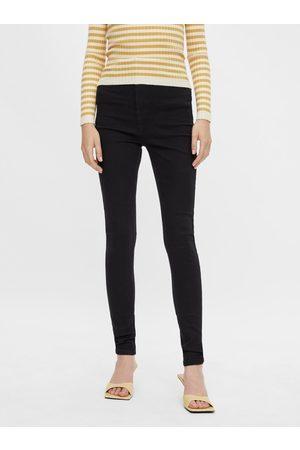 Pieces Černé skinny fit džíny Highfive
