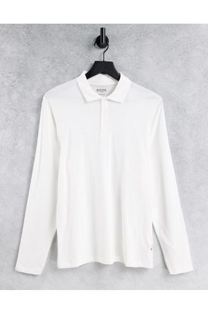 Burton Burton muscle fit long sleeve polo in white