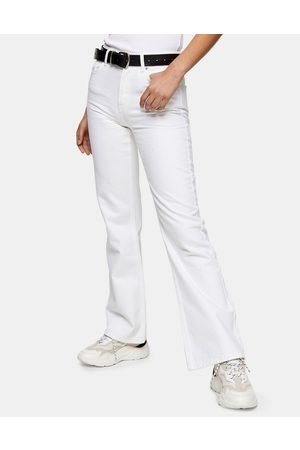 Topshop Ženy Bootcut - 90s flared jeans in white