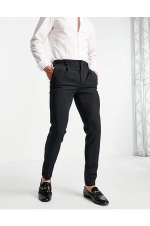 ASOS Muži Chino - Super skinny smart trouser in black