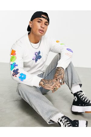 HUF Adored long sleeve shirt in white