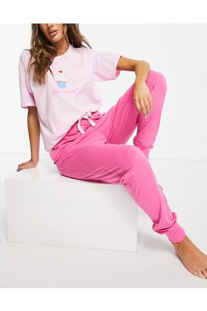 Heartbreak Ženy Spodní prádlo soupravy - Cupcake dreaming long pyjama set in pink