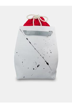 Xiss Bílý batoh Splashed White City Red