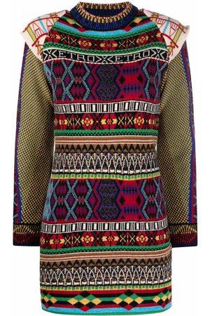 Etro Mix-pattern knit dress