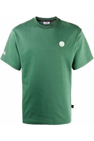 Gcds Logo-patch cotton T-shirt
