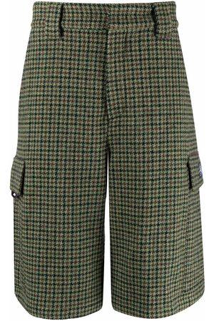 Msgm Wool checked bermuda shorts