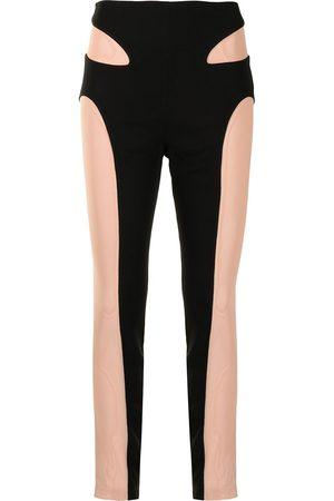 DION LEE Mesh-contour leggings