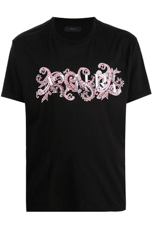 AMIRI Floral logo-print T-shirt