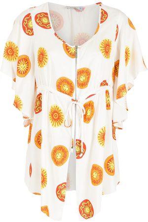 AMIR SLAMA Tie-fastening printed blouse