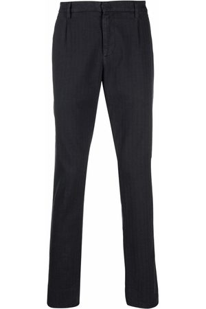 Dondup Herringbone straight-leg trousers