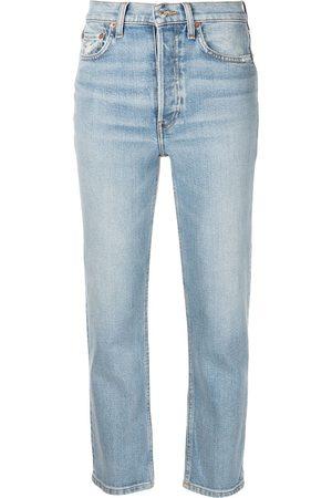 RE/DONE Ženy Strečové - Comfort Stretch cropped jeans