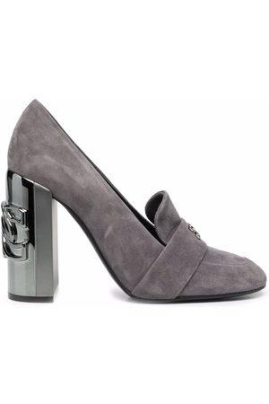 Casadei C-Chain block-heel pumps