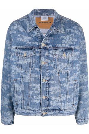 Vetements Logo-print denim jacket
