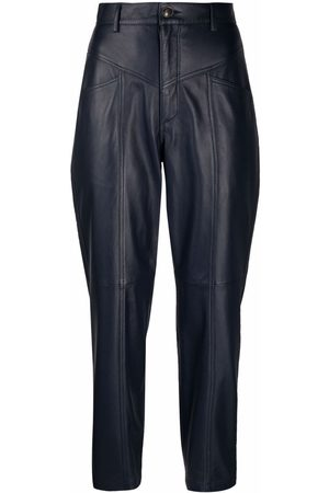 Simonetta Asia leather tapered trousers