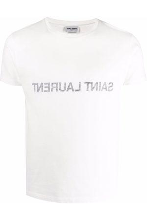 Saint Laurent Muži S krátkým rukávem - Reverse logo-print T-shirt