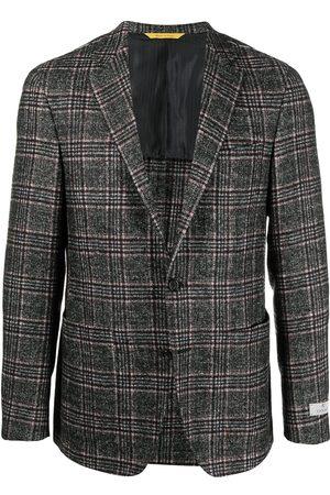 CANALI Muži Saka - Checked wool blazer