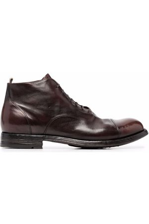 Officine creative Balance polished lace-up boots