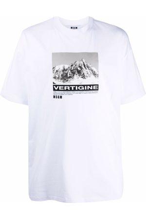 Msgm Graphic-print short-sleeved T-shirt