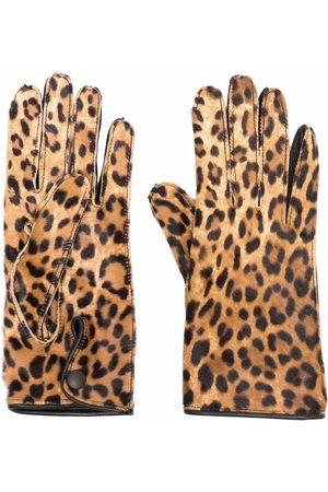 Maison Margiela Ženy Rukavice - Leopard-print gloves