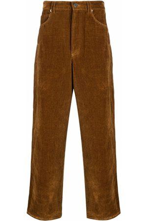 Jacquemus Muži Rovné nohavice - Straight-cut velvet-effect trousers