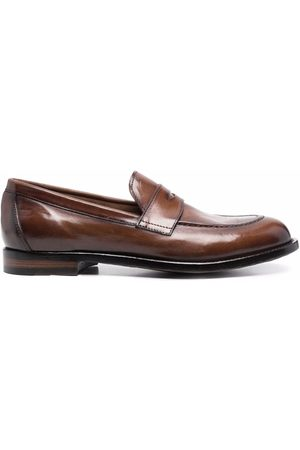 Officine creative Round-toe leather loafers