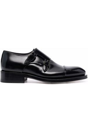 santoni Muži Do práce - Buckle-fastened monk shoes