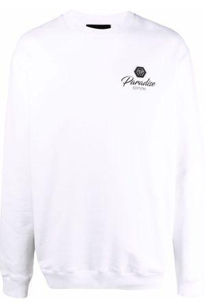 Philipp Plein Muži S dlouhým rukávem - Logo-patch long-sleeved sweater
