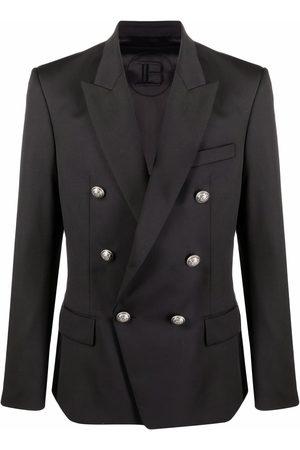 Balmain Muži Saka - Double-breasted wool blazer