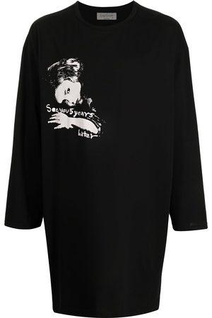 YOHJI YAMAMOTO Muži S dlouhým rukávem - Oversized face print T-shirt