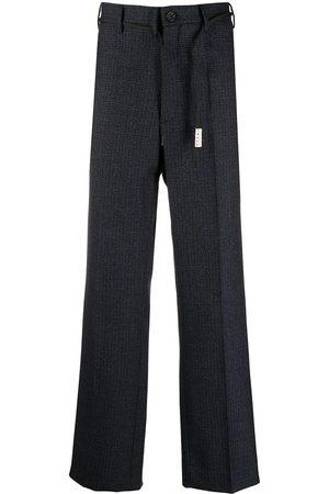 Marni Muži Rovné nohavice - Check-print straight-leg trousers