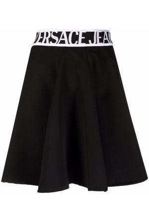 VERSACE Ženy Áčkové - Logo-waistband A-line skirt
