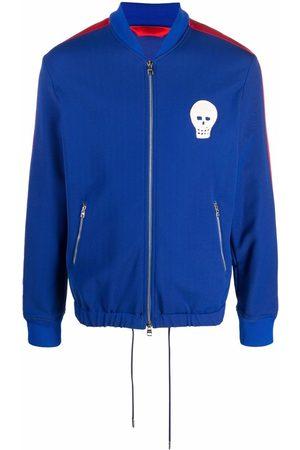 Alexander McQueen Muži Bundy - Skull patch sports jacket