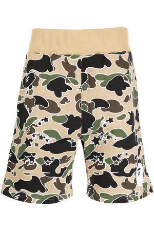 A Bathing Ape Camouflage-print cotton shorts