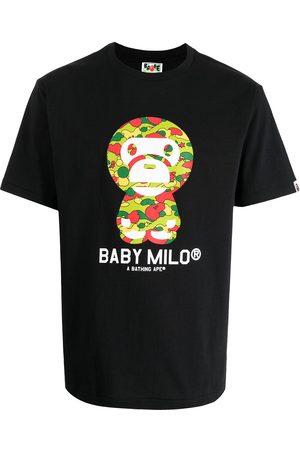 A Bathing Ape Muži S krátkým rukávem - Slogan-print cotton T-shirt